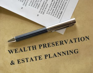 Wealth Preservation & Estate Planning statement on old paper